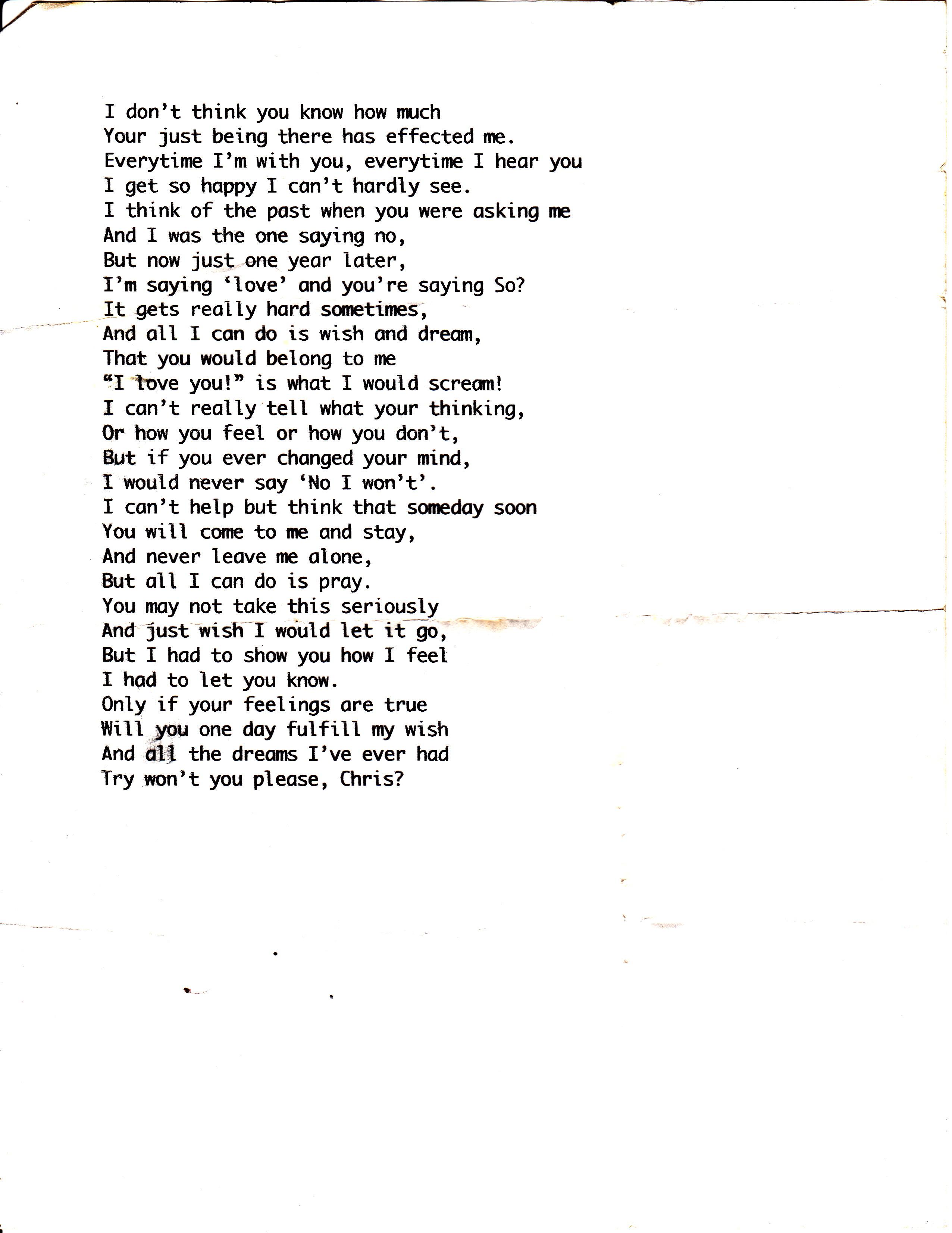 True feelings poems