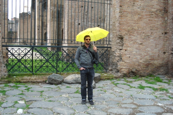 008 My Mom Taking a Picture of Me Holding An Umbrella