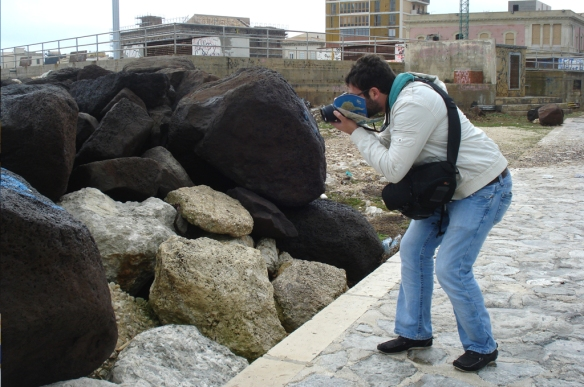 018 My Mom Taking a Picture of Me Taking a Picture of Rocks
