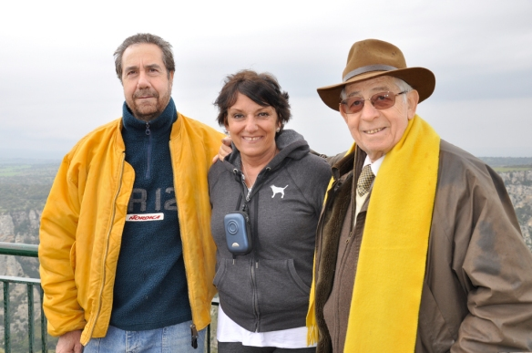 019 A Picture of My Mom With two Guys That Like Wearing Yellow