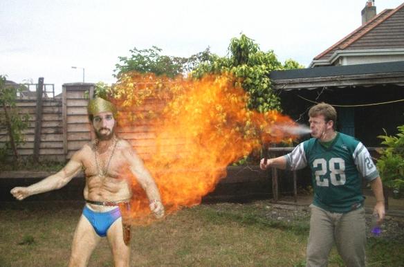 Ralph And Krueger Fire Breathing