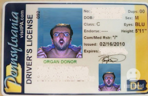 001 Driver's License Renewel Photo