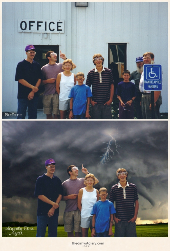 Severe Tornado Warning Before And After