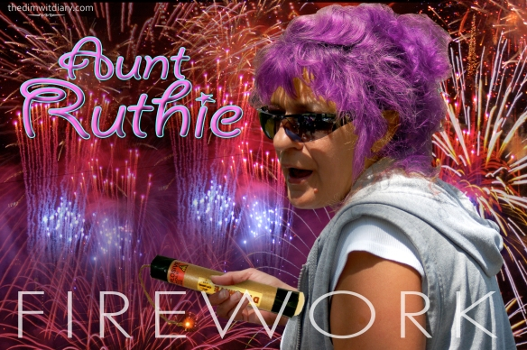 004 Crazy Drunk Aunt Katy Perry Firework Poster